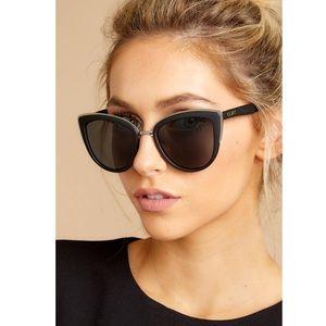 New! QUAY My Girl Oversized Cat Eye Sunglasses